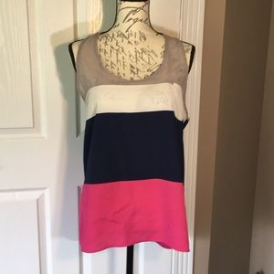 Block Color Sheer Tank w/ Racer Back